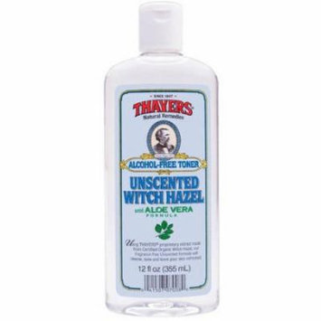 Thayers Witch Hazel with Aloe Vera Toner Alcohol-Free, 12 FL OZ