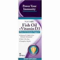 Natrol Fish Oil + Vitamin D3, Softgels, 90 CT