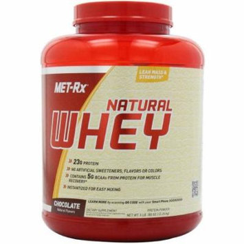 Met-Rx Protein Powder Natural Whey Chocolate, 5 LB
