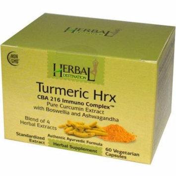 Herbal Destination Tumeric Hrx, CBA 216 Immuno Complex, Pure Curcumin Extract, 60 CT