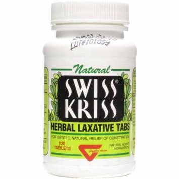 Swiss Kriss Herbal Laxative Tablets, 120 CT