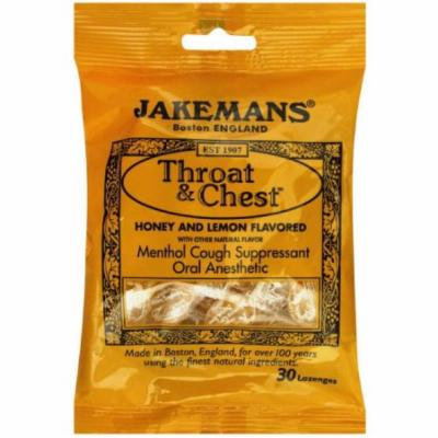 Jakemans Throat & Chest, Lozenges, Honey and Lemon Flavored, 30 CT (Pack of 12)