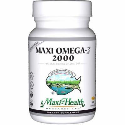 Maxi-Health Maxi Omega-3 2000, Fish Oil, Kosher, 100 CT