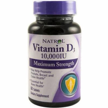 Natrol Vitamin D3 Maximum Strength Tablets, 60 CT