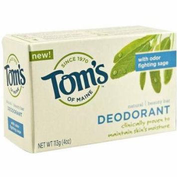 Toms Of Maine Natural Beauty Daily Moisturizing Deodorant Bar, 4 OZ (Pack of 3)