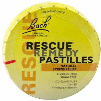 Bach Flower Remedies Rescue Remedy Pastilles, 50 GM
