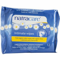 Natracare Organic Cotton Intimate Wipes, 12 CT (Pack of 3)