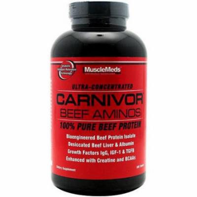Muscle Meds Carnivor Beef Aminos, 300 CT