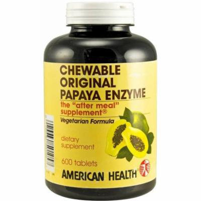American Health Original Papaya Enzyme Tablets, 600 CT