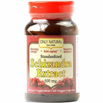 Only Natural Nutritional Schizandra Extract Vegetarian Capsules, 60 CT