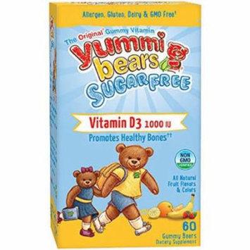 Yummi Bears Vitamin D3, High Potency, Gummy Bears, 60 CT