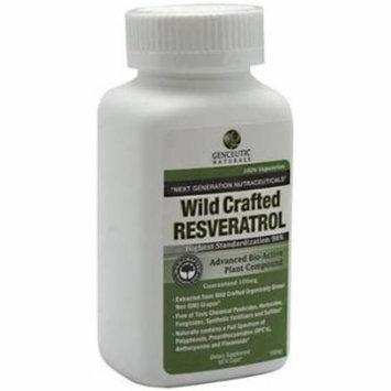 Genceutic Naturals Resveratrol, Vegetarian Capsules, 60 CT