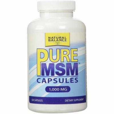 Natural Balance Pure MSM Capsules, 120 CT