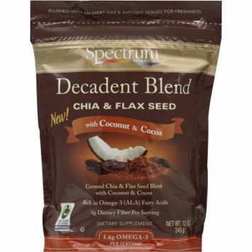 Spectrum Essentials Chia & Flax Seed, with Coconut & Cocoa, 12 OZ