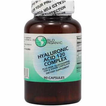 World Organics Hyaluronic Acid 120 Complex Capsules, 90 CT