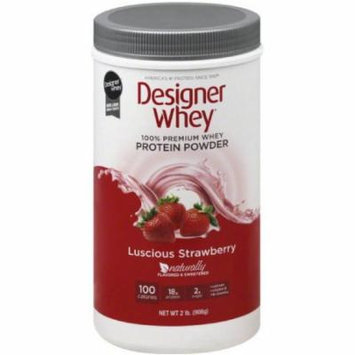 Designer Whey Protein Powder, Luscious Strawberry, 2 LB