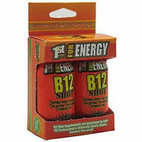 1st Step for Energy Maximum Energy B12 Shot, Tropical Blast, 2 CT (Pack of 3)