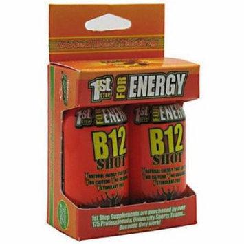 1st Step for Energy Maximum Energy B12 Shot, Tropical Blast, 2 CT (Pack of 3)
