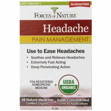 Forces of Nature Headache Pain Management, 11 ML