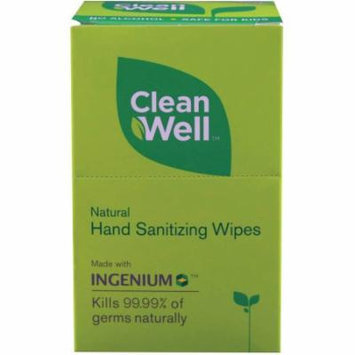 Cleanwell All Natural Hand Sanitizing Wipes, 10 CT (Pack of 4)