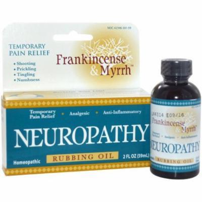 Frankincense & Myrrh Neuropathy Rubbing Oil, 2 OZ