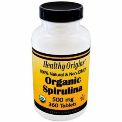 Healthy Origins Organic and Kosher Spirulina Tablets, 360 CT