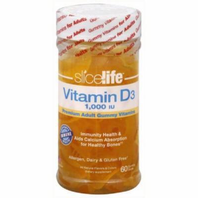 Slice of Life Vitamin D3 Gummy Slices, 60 CT