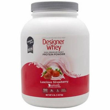 Designer Whey Protein Powder, Strawberry, 4.4 LB