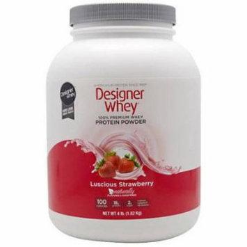 Designer Whey Protein Powder, Strawberry, 4.4 LB