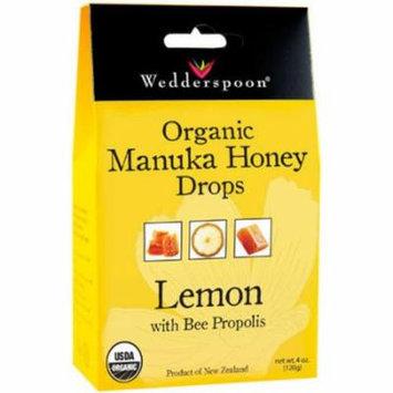 Wedderspoon Manuka Honey LOuncesenges with Lemon and Bee Propolis, 4 OZ
