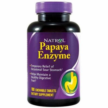 Natrol Papaya Enzyme Chewable, 100 CT