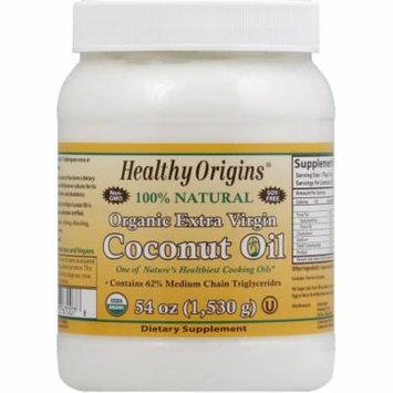 Healthy Origins Coconut Oil, Organic Extra Virgin, 54 FL OZ