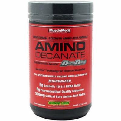 Muscle Meds Amino Decanate, Citrus Lime, 12.7 OZ