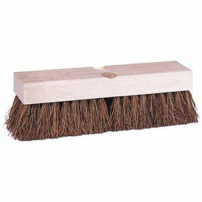 TOUGH GUY 4KNA8 Deck Scrub Brush, 12 x 3 In Blck, 2 In Trm