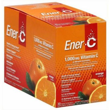 EnerC Effervescent Powdered Drink Mix, Vitamin C, 1000 mg, Orange, 30 CT