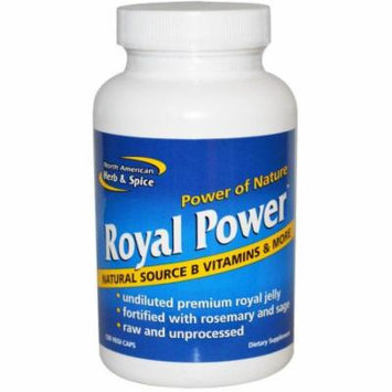 North American Herb & Spice Royal Power Vegetarian Capsules, 120 CT