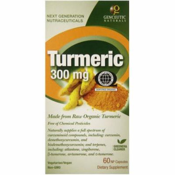 Genceutic Naturals Turmeric 300mgOrganic, Caplets, 60 CT