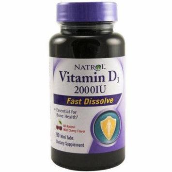 Natrol Vitamin D3 2000iu Mini Tabs, Strawberry, 90 CT