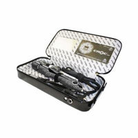 CROC Skin Titanium Ceramic Straightening Digital Flat Hair Iron Gift Set Black