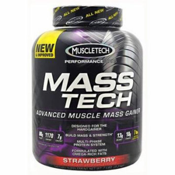 MuscleTech Mass Tech, Strawberry, 7 LB