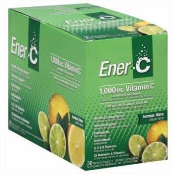 EnerC Effervescent Powdered Drink Mix, Vitamin C, 1000 mg, Lemon Lime, 30 CT