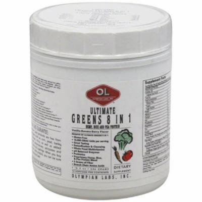 Olympian Labs Greens 8 in 1, Ultimate, Vanilla-Banana-Berry Flavor, 546 GM