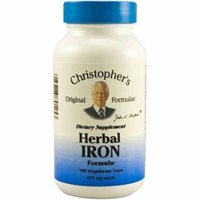 Christopher's Original Formulas Herbal Iron Formula Capsules, 100 CT