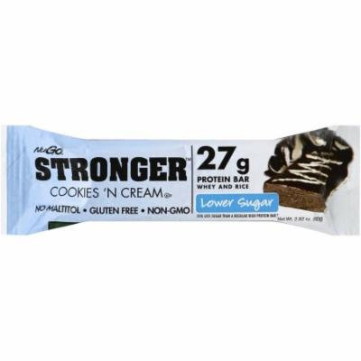 NuGo Nutrition Stronger Cookies and Cream, 2.82 OZ (Pack of 12)