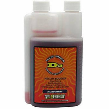 1st Step for Energy Liquid Vitamin D3, Mixed Berry, 16