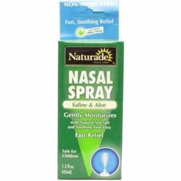 Naturade Cough & Cold Remedies, Saline & Aloe Nasal Spray, 1.5 OZ
