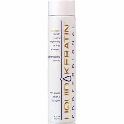Liquid Keratin Infusing Brightening De-Frizz Shampoo for Blonde / Silver & Highlights, 8 fl. oz.