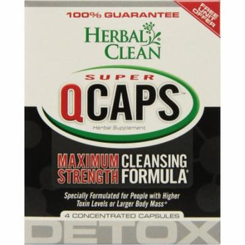 Herbal Clean Super Qcaps Maximum Strength, Capsules, 4 CT