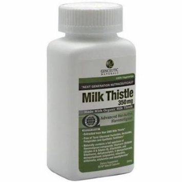 Genceutic Naturals Milk Thistle, Natural Capsules, 60 CT