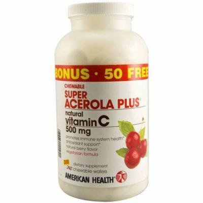 American Health Super Acerola Plus Chewable Wafers, 300 CT